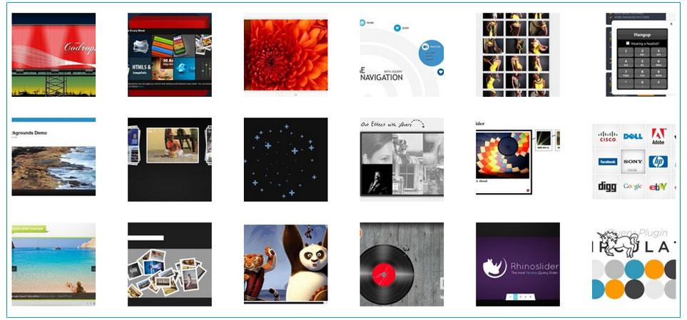 绚丽的jQuery和CSS打造的图片动画